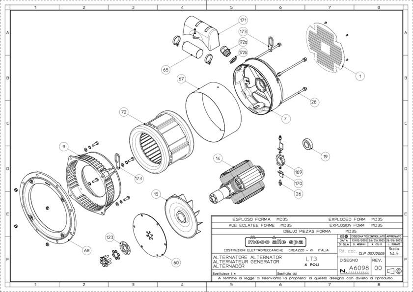 Mecc Alte Spare Parts